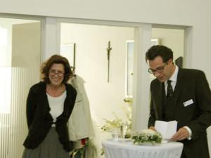 1. Fotowettbewerb von Hahn Bestattungen 2013: Geschäftsführerin Editha Hahn-Fink und Robert Hahn