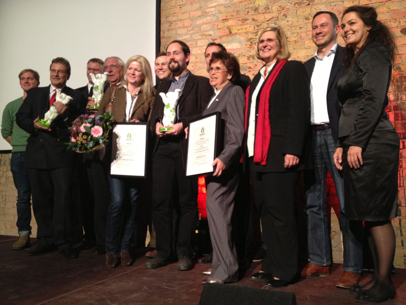 Preisverleihung des dritten Green Buddy-Awards in Tempelhof-Schöneberg am 31.10.13 im Audimax des Euref-Campus © Tempelhofer Nachrichten